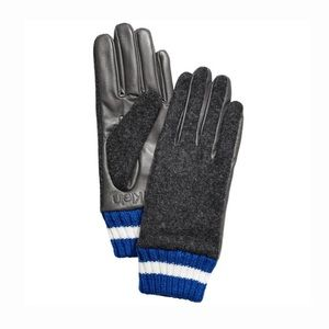 Calvin Klein Womens Leather Knit Combo Touch Glove